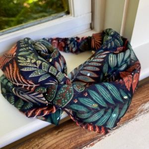 Anthropologie Tropical Floral Twist Headband